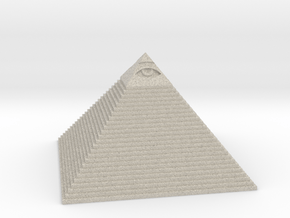 Pyramid with the eye of Masons in Natural Sandstone