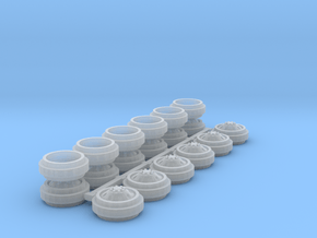 1/64 Alcoa Dually Rims (3 Sets) in Smooth Fine Detail Plastic