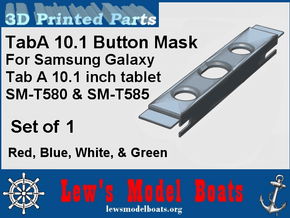 Samsung Tab A 10.1 Button Shield in White Processed Versatile Plastic: Medium