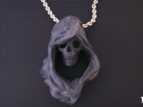 Reaper Pendant in Matte Black Steel
