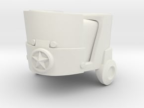 U-clank-a (designed to fit head of 3A Robot Heavy) in White Natural Versatile Plastic