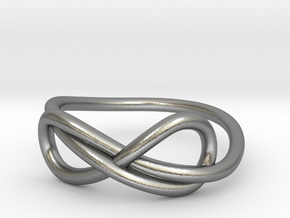 Infinity ring in Natural Silver: 7 / 54