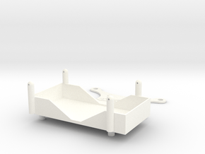 A-Main Racing Bullet Battery Tray in White Processed Versatile Plastic