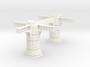 1/270 Imperial Landing Pad Supports in White Processed Versatile Plastic