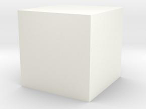 Cube in White Processed Versatile Plastic