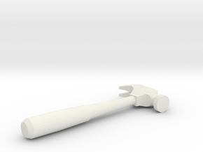 Mini Hammer in White Natural Versatile Plastic