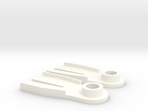 Minifig Splitfin without blade angle  in White Processed Versatile Plastic