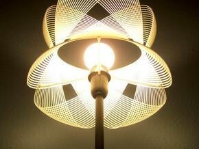 Clothoid.A Lamp in White Natural Versatile Plastic