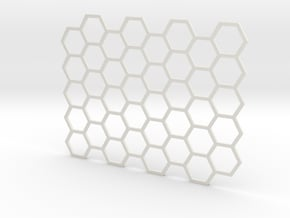 Texture stamp: Hex in White Natural Versatile Plastic