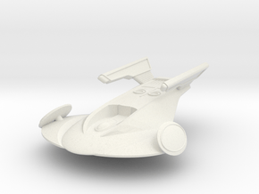 Stingray Spaceship in White Natural Versatile Plastic