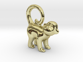 Monkey Earring in 18k Gold Plated Brass