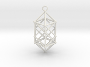 Hyperdiamond projection of 24 cell Octoplex 50mm in White Natural Versatile Plastic