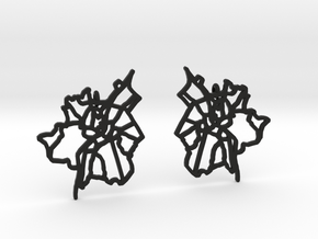 Salzburg Earrings in Black Natural Versatile Plastic