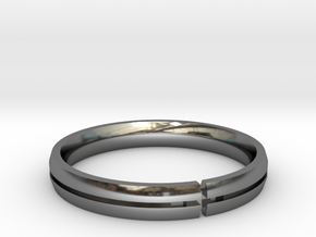 Candice Ring Silver Print in Fine Detail Polished Silver