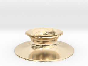 """The Universe Sphere Base """"Round"""" in 14K Yellow Gold"""