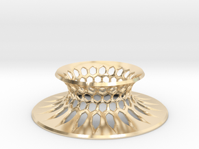 """The Universe Sphere Base """"Grid"""" in 14K Yellow Gold"""