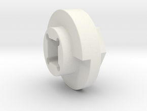 DX4 wheel adapter BS=14mm in White Natural Versatile Plastic