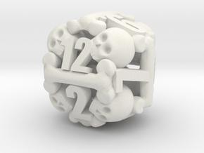 Ossuary d12 in White Natural Versatile Plastic