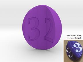 apple d3 (for Impact!) in Purple Processed Versatile Plastic