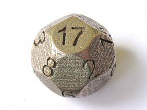 D17 Sphere Dice in Polished Bronze Steel