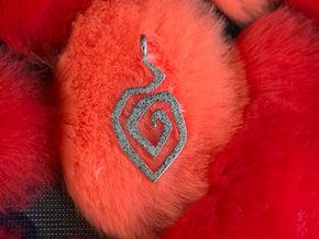 Fire swirl pendant in Polished Nickel Steel