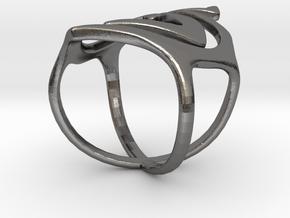 Swirl ring size 7 in Polished Nickel Steel