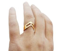 STUDIO PAULBAUT LOGO Ring (Size 5) in 18k Gold