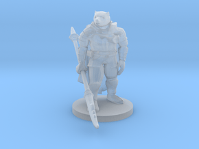 Werebear Knight in Smooth Fine Detail Plastic