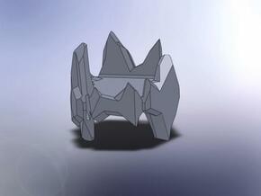 Crystal Turret in White Natural Versatile Plastic