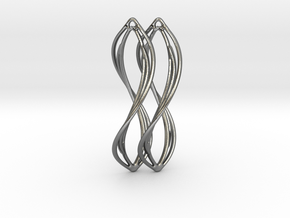 Flower 38 Twist - Pair in Polished Silver
