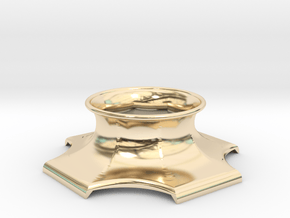 """The Universe Sphere Base """"LED Fitting"""" in 14K Yellow Gold"""