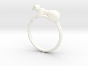 Feline Band - Ring version in White Processed Versatile Plastic: 7 / 54