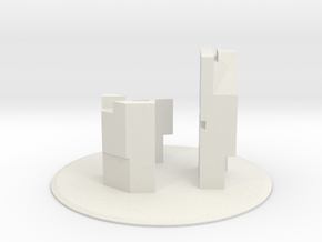 """SI-01: """"Interiority"""" by QSPACE in White Natural Versatile Plastic"""
