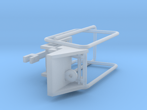 1/64 Small Square Baler Kicker Part #3 in Smooth Fine Detail Plastic