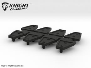 AJ10007 Door Hinge Shields in Black Natural Versatile Plastic