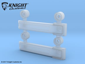 AJ10004 Rear Door Hinges (SCX10) in Smooth Fine Detail Plastic