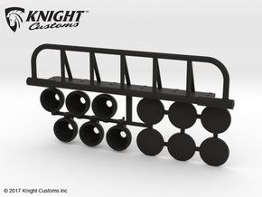 AJ10054 6 Spot Light Set in Black Natural Versatile Plastic