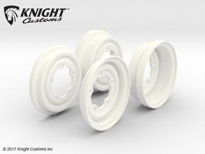 SR40013 5 Lug Wheel covers (SET OF 4) in White Processed Versatile Plastic
