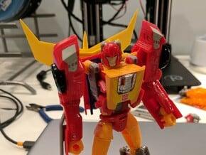 G1 Spoiler for Titans Return Hot Rod in Yellow Processed Versatile Plastic