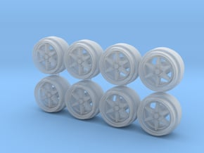 Hokuto Racing Thunder Hot Wheels Rims in Smooth Fine Detail Plastic