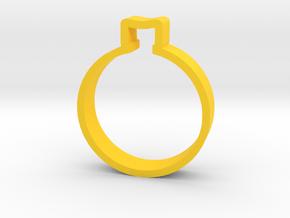 Christmas Ball 2 in Yellow Processed Versatile Plastic