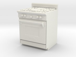 Printle Thing Gas Stove - 1/24 in White Natural Versatile Plastic
