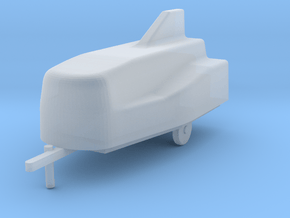 Car trailer BD-5, scale 1/144 in Smooth Fine Detail Plastic