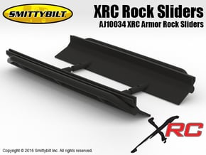 AJ10034 Smittybilt XRC Armor Rock Sliders in Black Natural Versatile Plastic