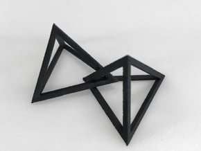 Interlocked Triangle Necklace in Black Natural Versatile Plastic