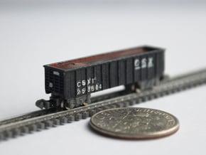 T Gauge 8 Hopper Car Set in Smoothest Fine Detail Plastic