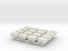 1/87 Scale Explosive Cases x16 v2 in White Natural Versatile Plastic