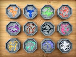 Chinese Zodiac Talismans - NO SPLIT TIGER TALISMAN in Full Color Sandstone