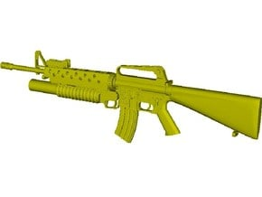 1/10 scale Colt M-16A1 & M-203 rifle x 1 in Smooth Fine Detail Plastic