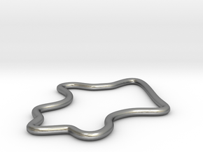 Abstract Design 01 in Natural Silver